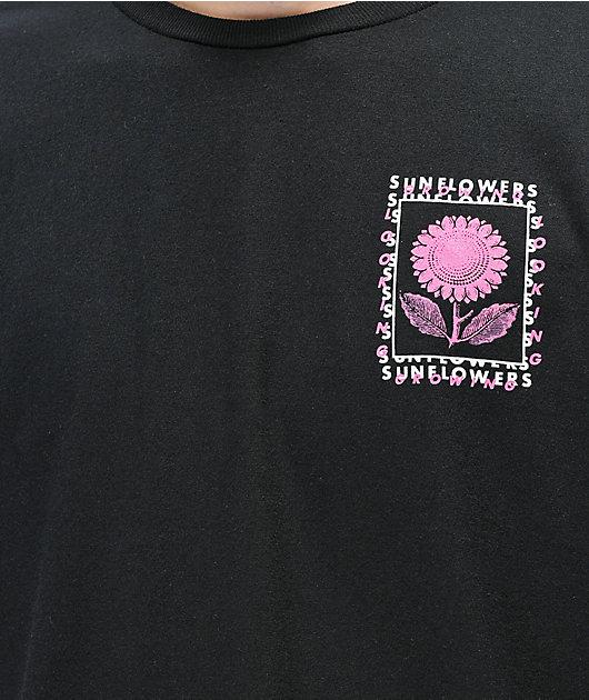 Empyre Sunflowers camiseta negra