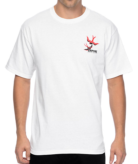 Empyre Swallows And Roses camiseta blanca