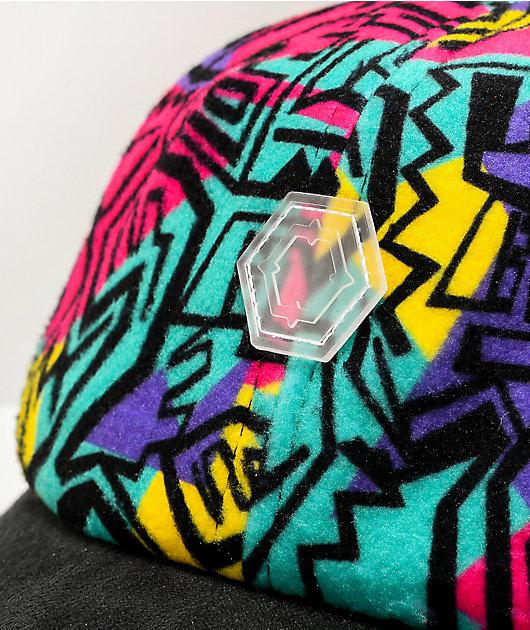 Empyre Swatch Geo Print Black Strapback Hat