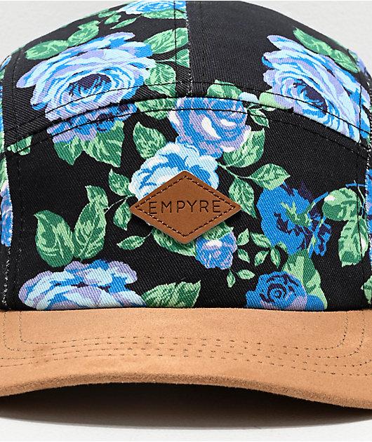 Empyre Tearose Black 5 Panel Strapback Hat