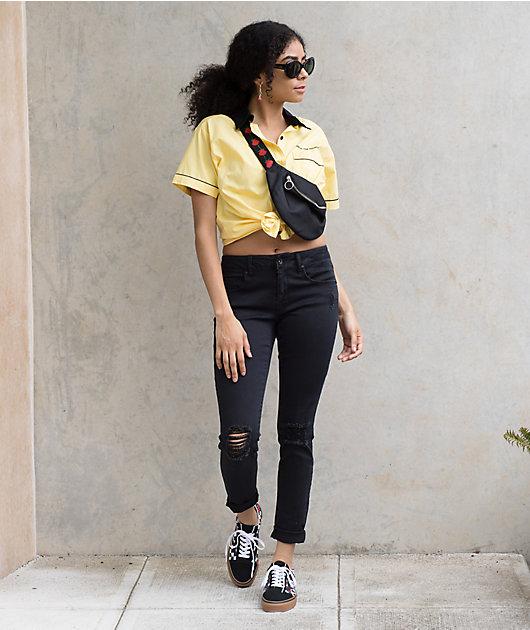 Empyre Tessa Black Storm Destroyed Skinny Jeans