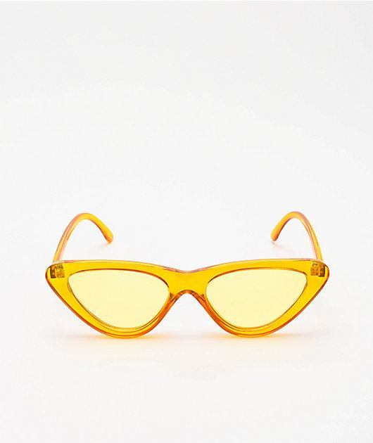 Empyre Translucent Yellow Cat Eye Sunglasses
