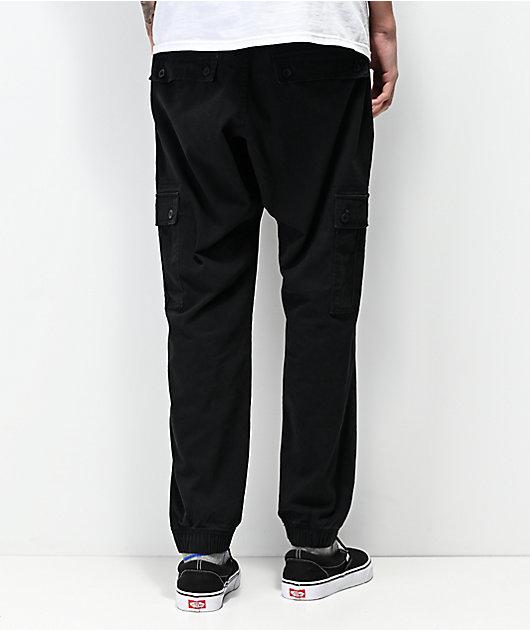 Empyre Traveler Black Cargo Jogger Pants