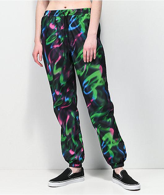 Empyre Tressa Green, Pink & Blue Track Pants