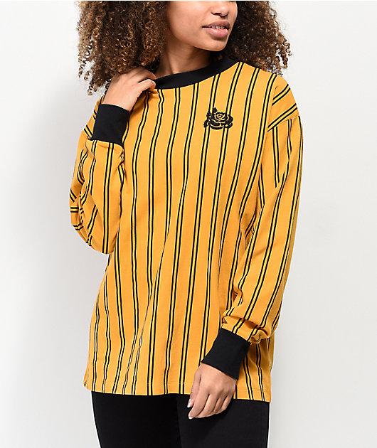Empyre Velma Yellow & Black Stripe Long Sleeve T-Shirt