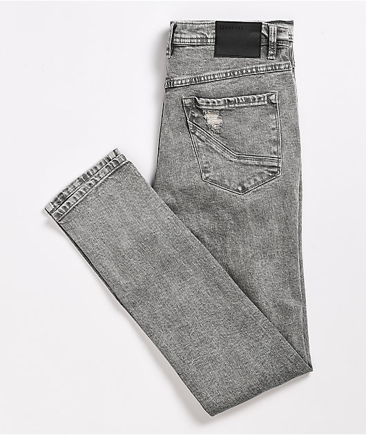 Empyre Verge Chad Tapered Charcoal Skinny Jeans