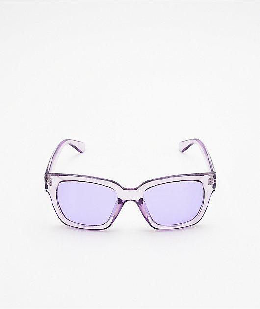 Empyre Viole Transparent Purple Sunglasses