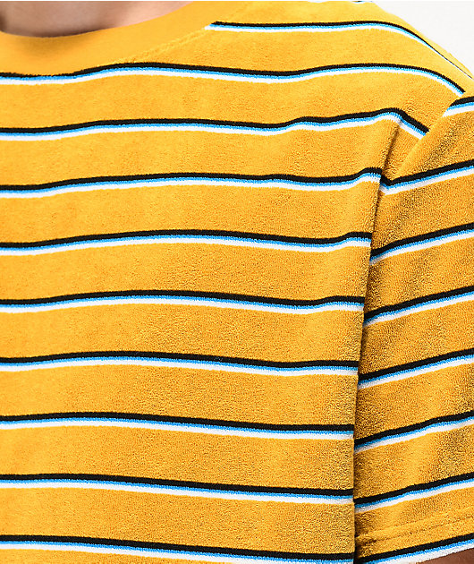 Empyre Waylon Gold, Blue & Black Striped Knit T-Shirt