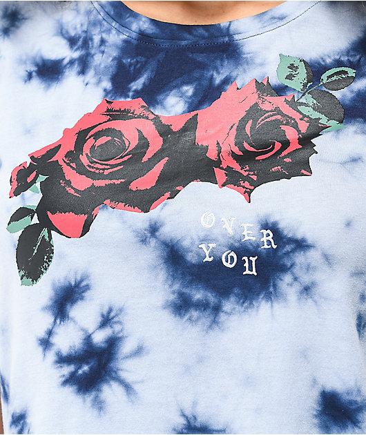 Empyre Yohanna Over You Rose camiseta tie dye azul