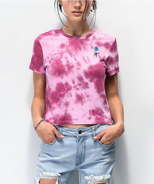 Empyre Yohanna Snake Rose camiseta corta tie dye