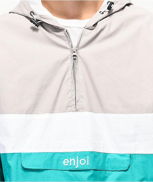 Grey Multi Details about  /Genuine Enjoi Handout Windbreaker