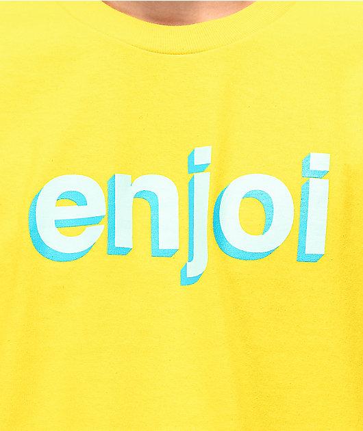 Enjoi Helvetica Neue camiseta amarilla