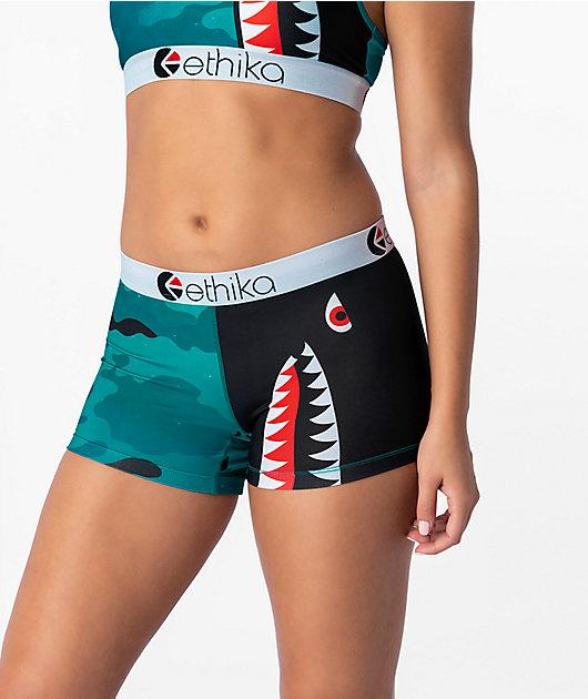 Ethika Bomber Teal Boyshort Underwear