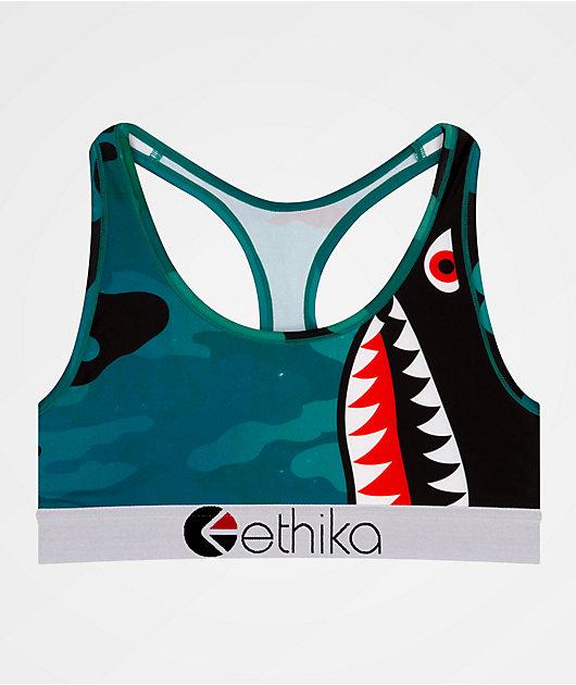 Ethika Bomber sujetador deportivo azul marino