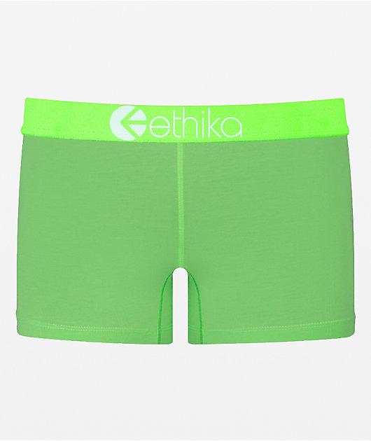 Ethika Glow Staple Boyshort braguitas verdes