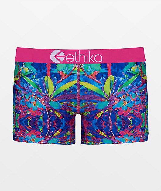 Ethika Loopy Flowers Boyshort Underwear