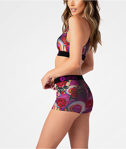 Ethika Optical Bloom Boyshort Underwear