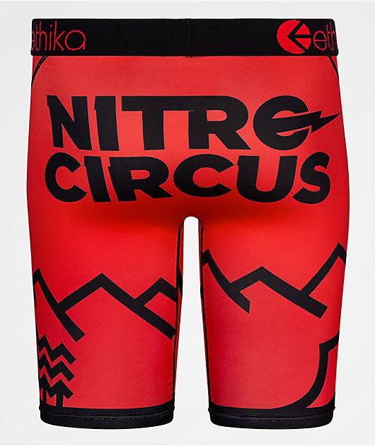 Ethika x Nitro Circus Parks & Rec calzoncillos bóxer rojos