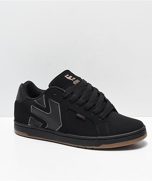 Etnies Fader 2 Black \u0026 Gum Nubuck Skate