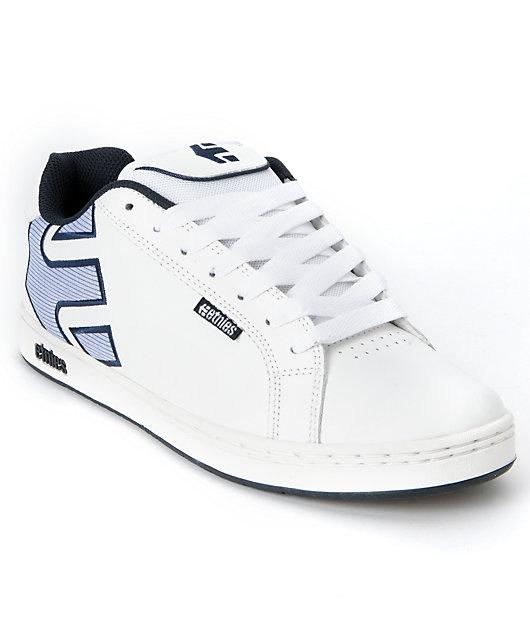 Etnies Fader White \u0026 Blue Skate Shoes