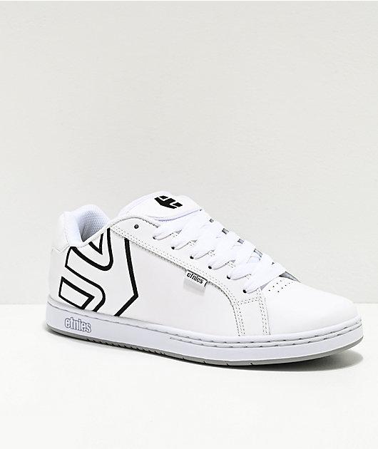Etnies Fader White \u0026 Silver Skate Shoes