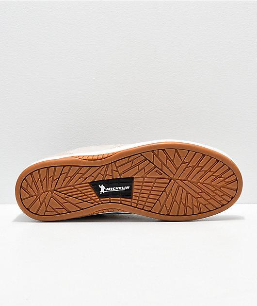 Etnies Joslin White & Gum Skate Shoes