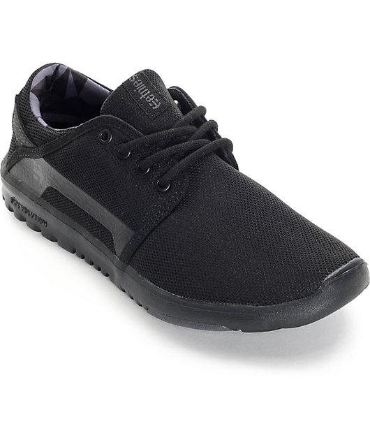 Etnies Scout Black \u0026 Black Shoes   Zumiez