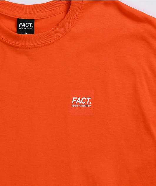 FACT Box Logo Orange T-Shirt