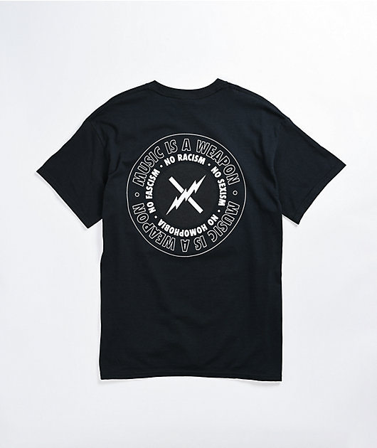 FACT Music Is A Weapon Black T-Shirt
