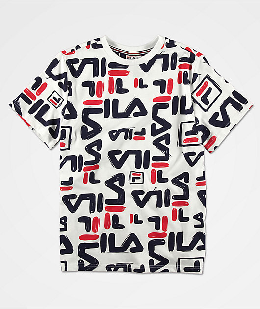 FILA Carmelo camiseta blanca para niños