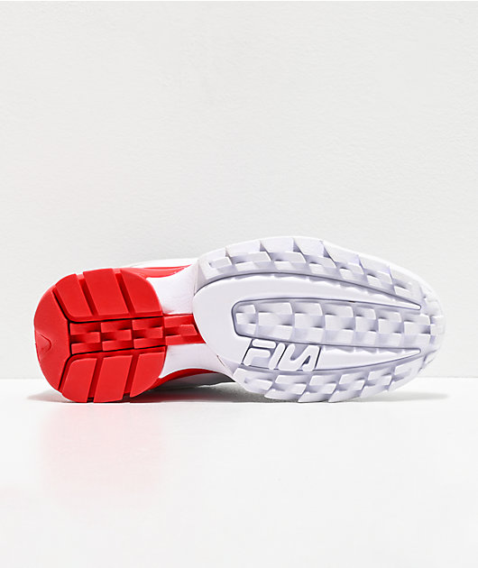 FILA Disruptor 2A White & Red Shoes