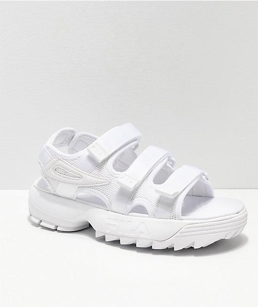 FILA Disruptor All White Sandal | Zumiez