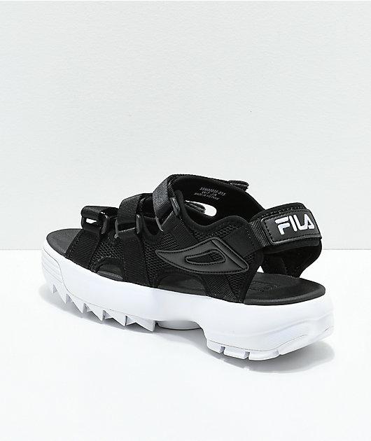 platform fila sandals