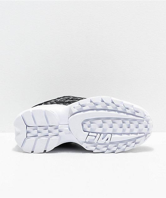 FILA Disruptor II All Over Black Shoes
