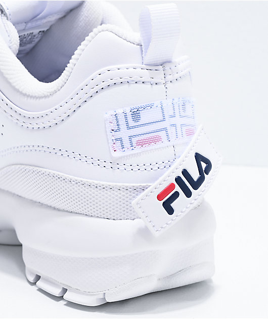 FILA Disruptor II Logo Reveal White Shoes