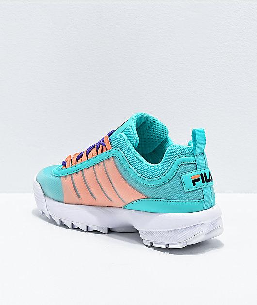 FILA Disruptor II Monomesh Turquoise Shoes