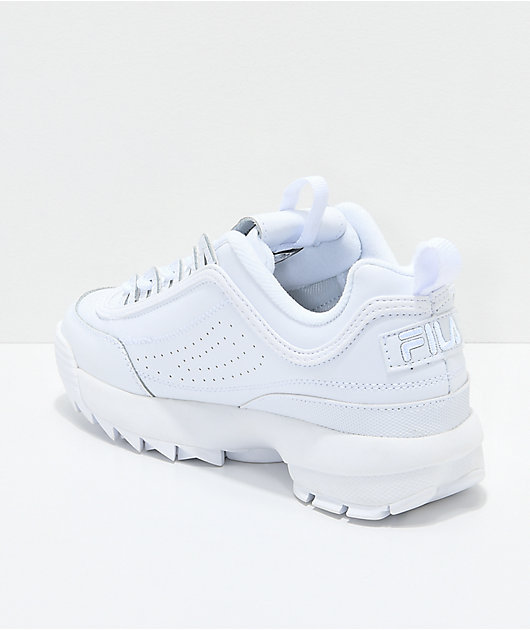 FILA Disruptor II Premium White Shoes