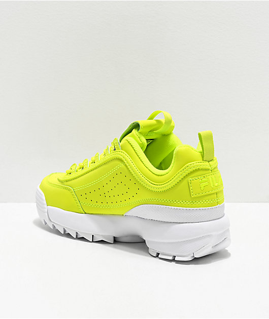 FILA Disruptor II Shift Yellow Shoes