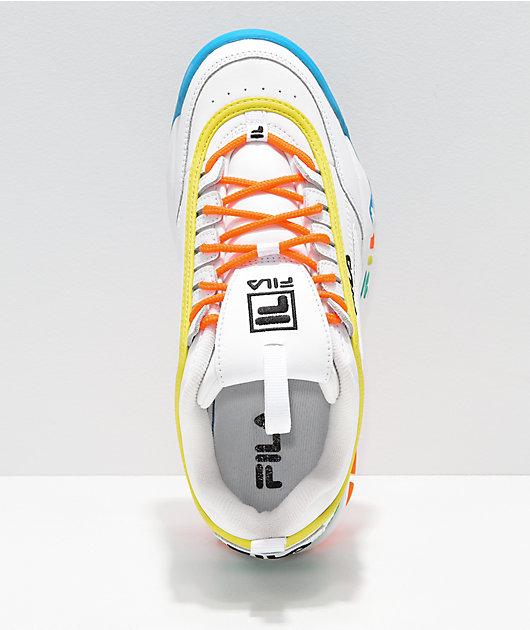 FILA Disruptor Multicolor & White Shoes