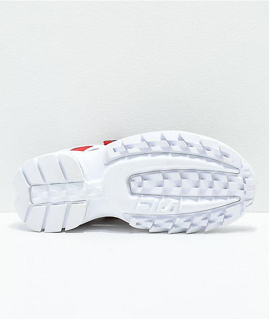 FILA Disruptor White Platform Sandal
