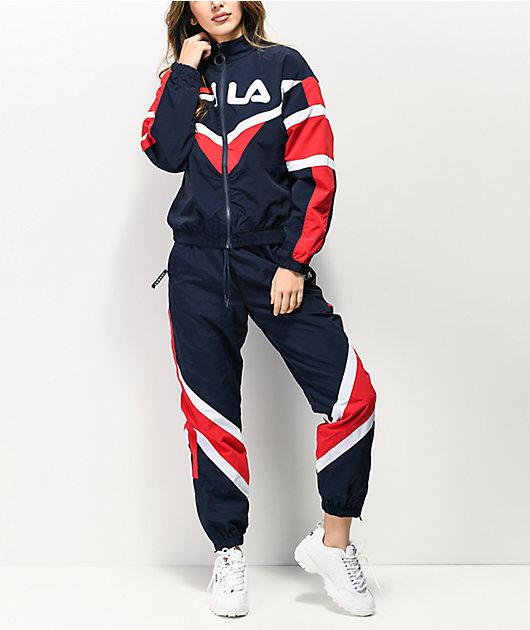 FILA Esme Navy & Red Track Pants