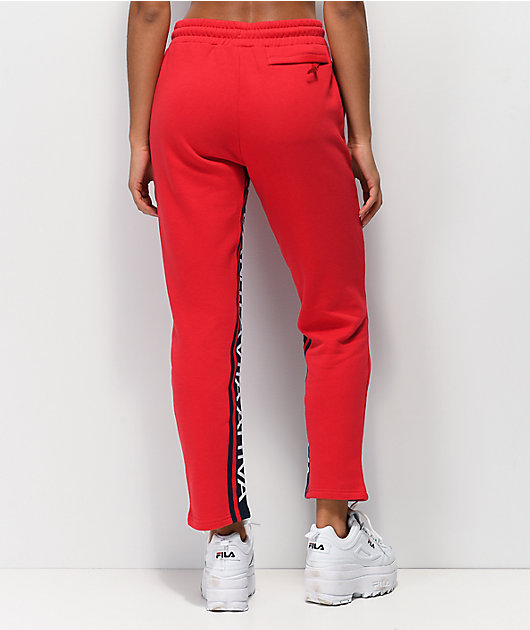 FILA Heloise Red Jogger Sweatpants