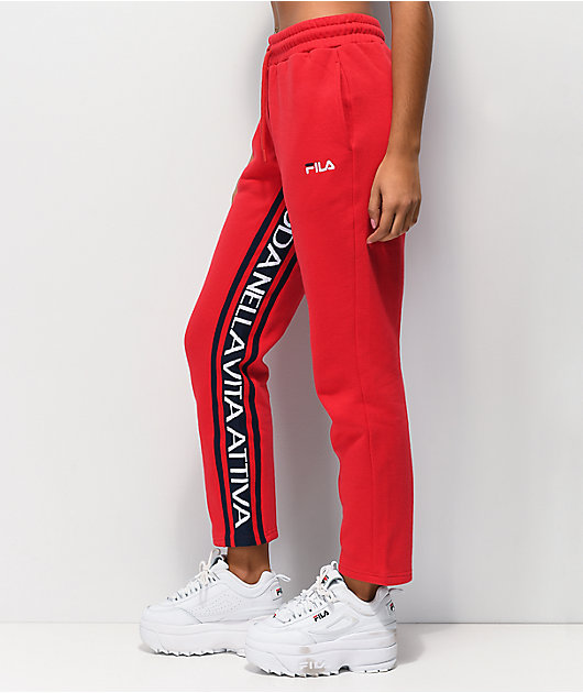 FILA Heloise jogger pantalones deportivos rojos