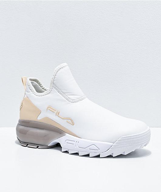 FILA Lab White & Nude Shoes