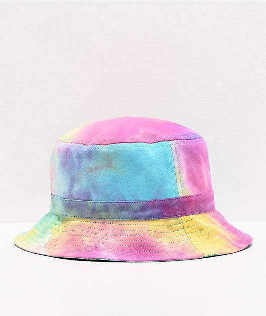 FILA Logo Purple Tie Dye Bucket Hat