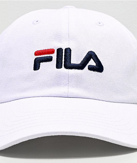 FILA Logo White Strapback Hat