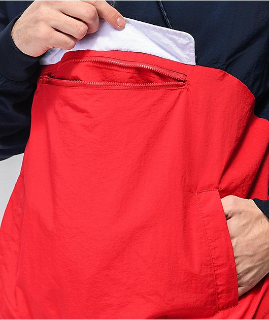 FILA Macker 2 Navy & Red Anorak Jacket