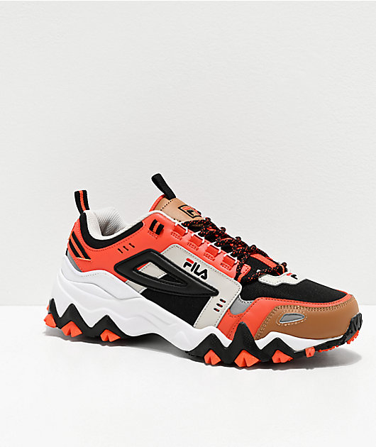 FILA Oakmont Trail Black, Red, Silver & White Shoes