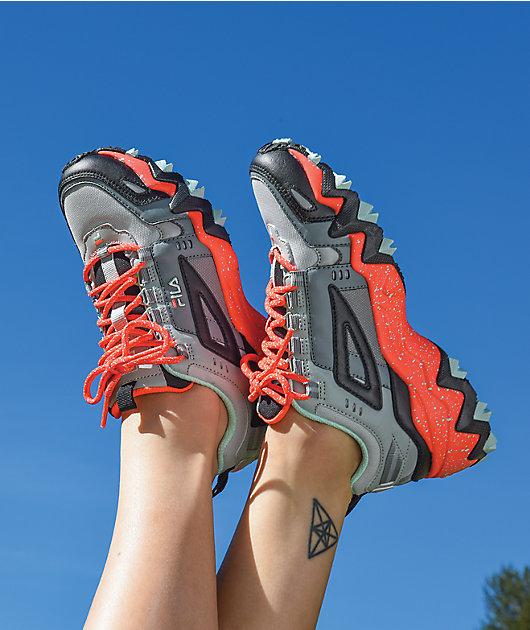FILA Oakmont Trail Monument & Coral Shoes
