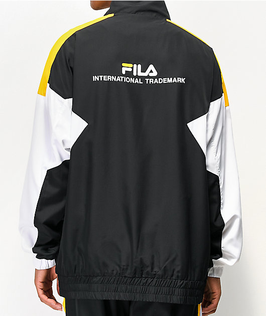 FILA Oliviero Black, White & Gold Track Jacket